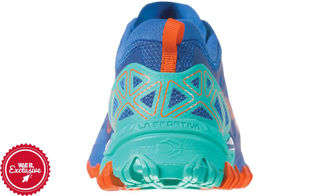 Women's La Sportiva Bushido II Trail Running Shoe - Color: Marine Blue/Aqua (Regular Width) - Size: 6, Marine, large, image 4