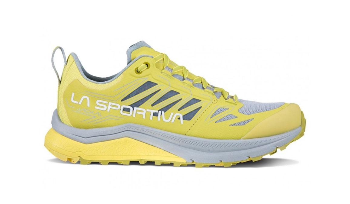Women's La Sportiva Jackal Trail Running Shoe - Color: Celery/Kiwi (Regular Width) - Size: 6.5, Yellow/Grey, large, image 1