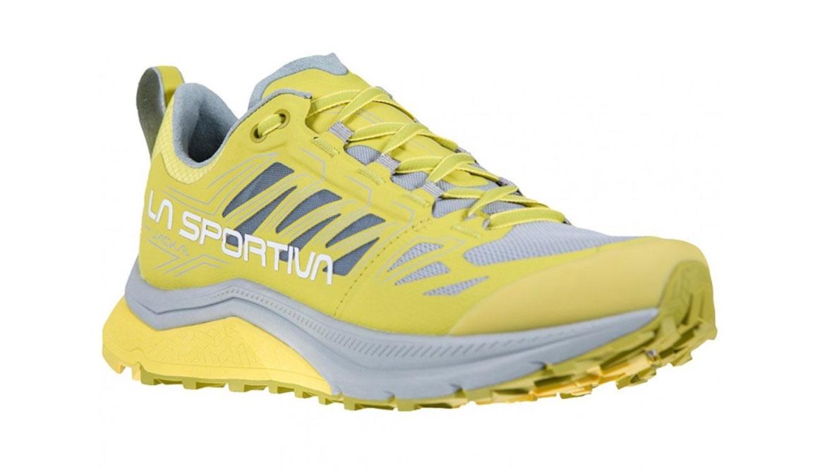 Women's La Sportiva Jackal Trail Running Shoe - Color: Celery/Kiwi (Regular Width) - Size: 6.5, Yellow/Grey, large, image 2