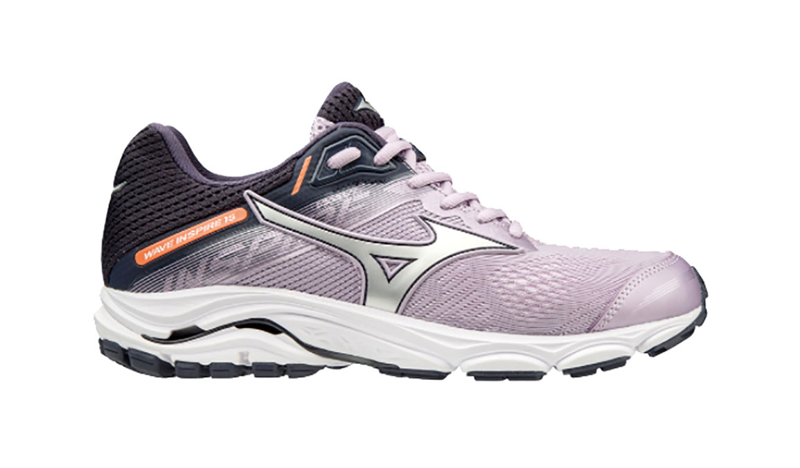 Women's Mizuno Wave Inspire 15 Running Shoe - Color: Lavender Frost/Silver (Regular Width) - Size: 12, Lavender Frost/Silver, large, image 1