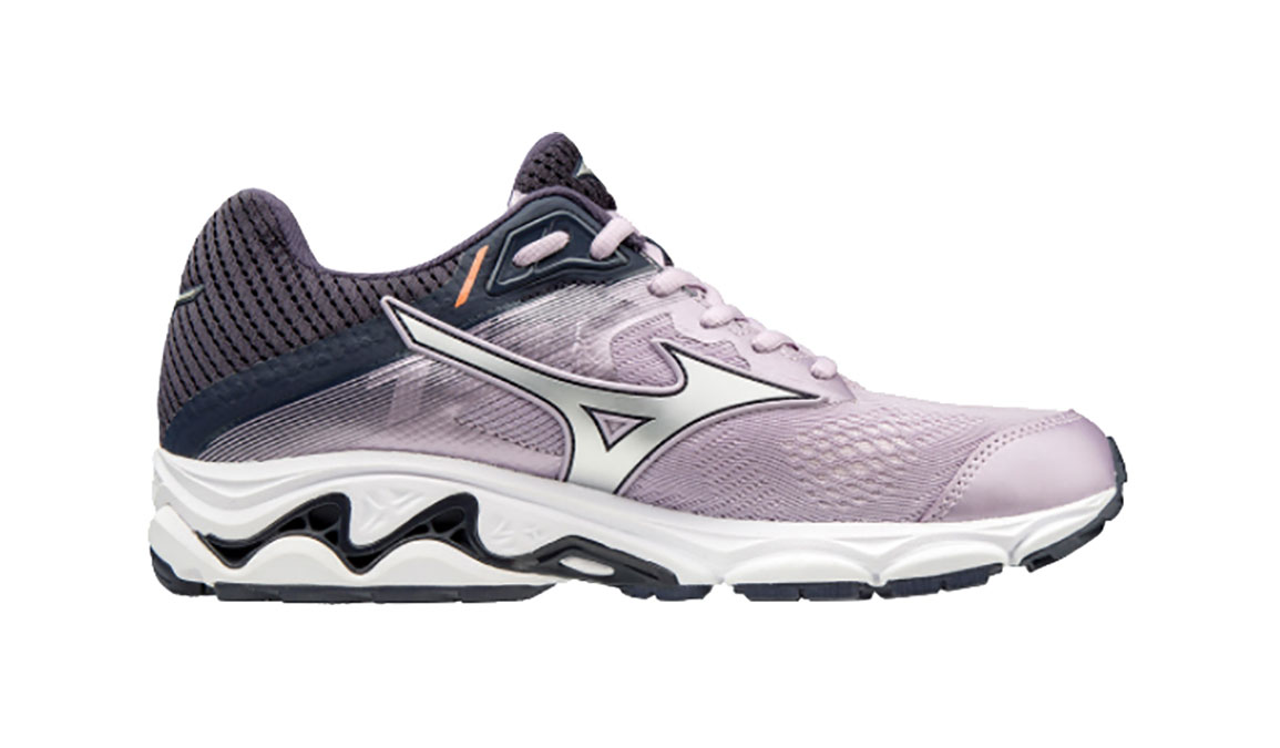 Women's Mizuno Wave Inspire 15 Running Shoe - Color: Lavender Frost/Silver (Regular Width) - Size: 12, Lavender Frost/Silver, large, image 2