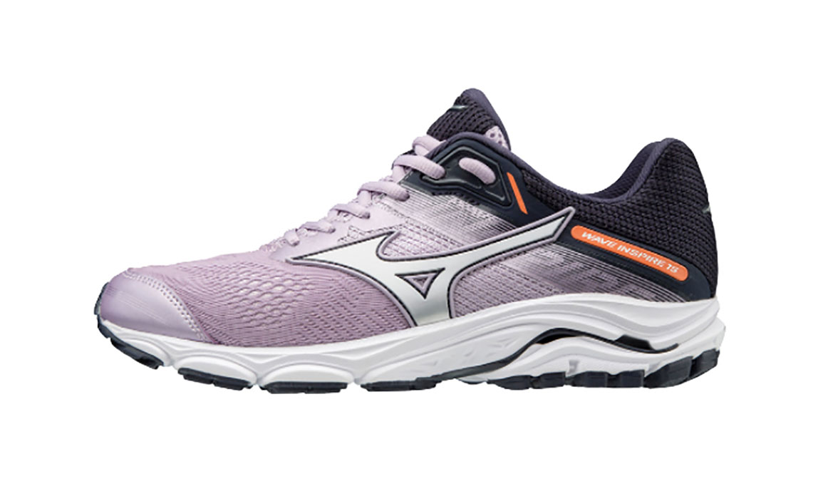 Women's Mizuno Wave Inspire 15 Running Shoe - Color: Lavender Frost/Silver (Regular Width) - Size: 12, Lavender Frost/Silver, large, image 3