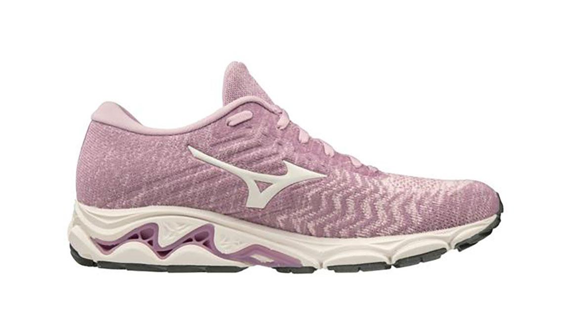 Women's Mizuno Wave Inspire 16 Waveknit Running Shoe - Color: Ballerina/Snow White (Regular Width) - Size: 6, Ballerina/Snow White, large, image 1