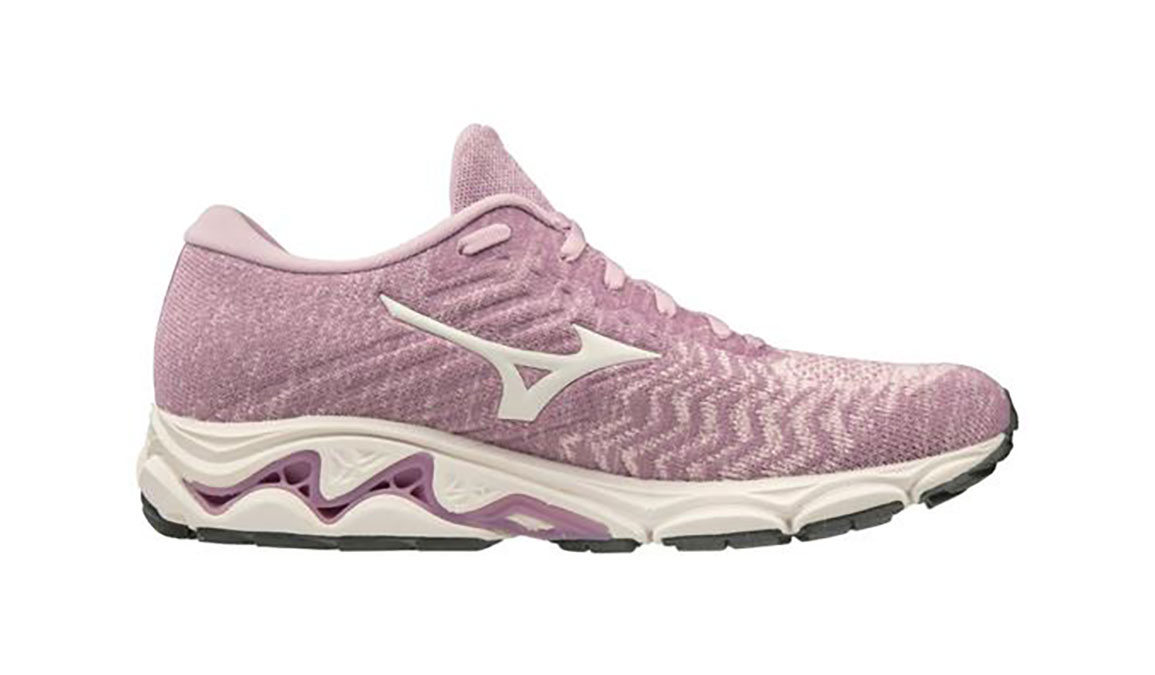 Women's Mizuno Wave Inspire 16 Waveknit Running Shoe - Color: Ballerina/Snow White (Regular Width) - Size: 6, Ballerina/Snow White, large, image 1