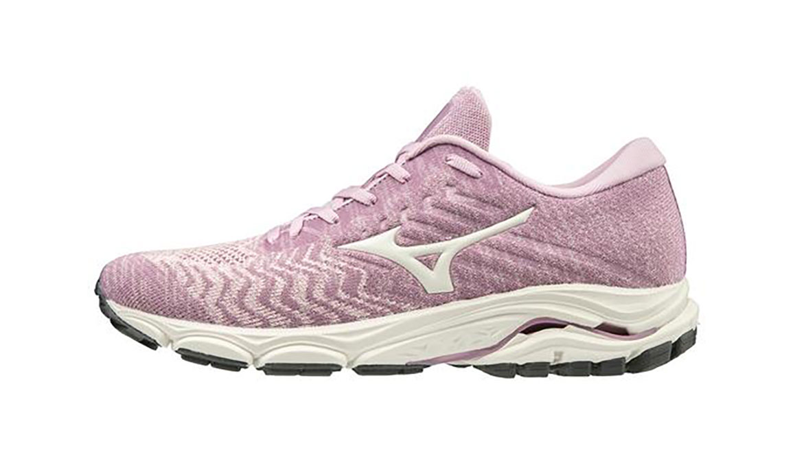 Women's Mizuno Wave Inspire 16 Waveknit Running Shoe - Color: Ballerina/Snow White (Regular Width) - Size: 6, Ballerina/Snow White, large, image 2