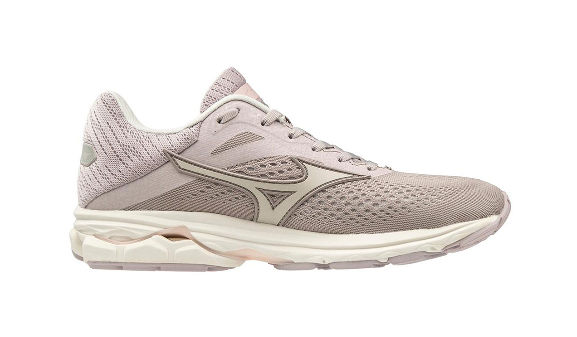 Women's Mizuno Wave Rider 23 Running Shoe - Color: Cloud Grey/Wind Chime (Regular Width) - Size: 6, Cloud Grey/Wind Chime, large, image 1