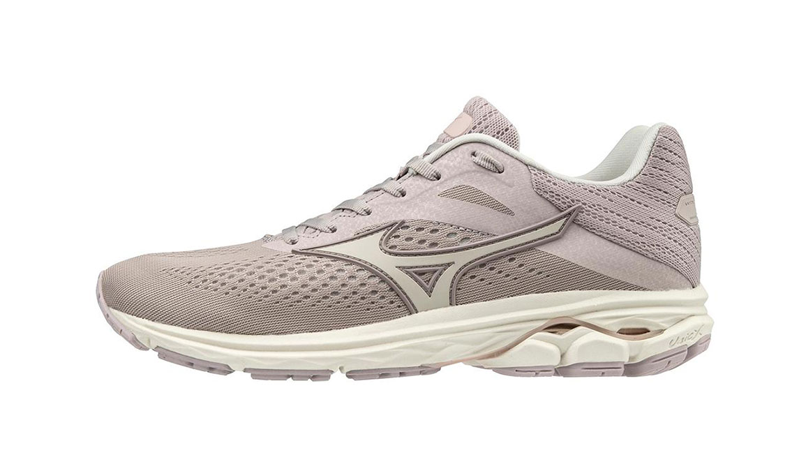 Women's Mizuno Wave Rider 23 Running Shoe - Color: Cloud Grey/Wind Chime (Regular Width) - Size: 6, Cloud Grey/Wind Chime, large, image 2