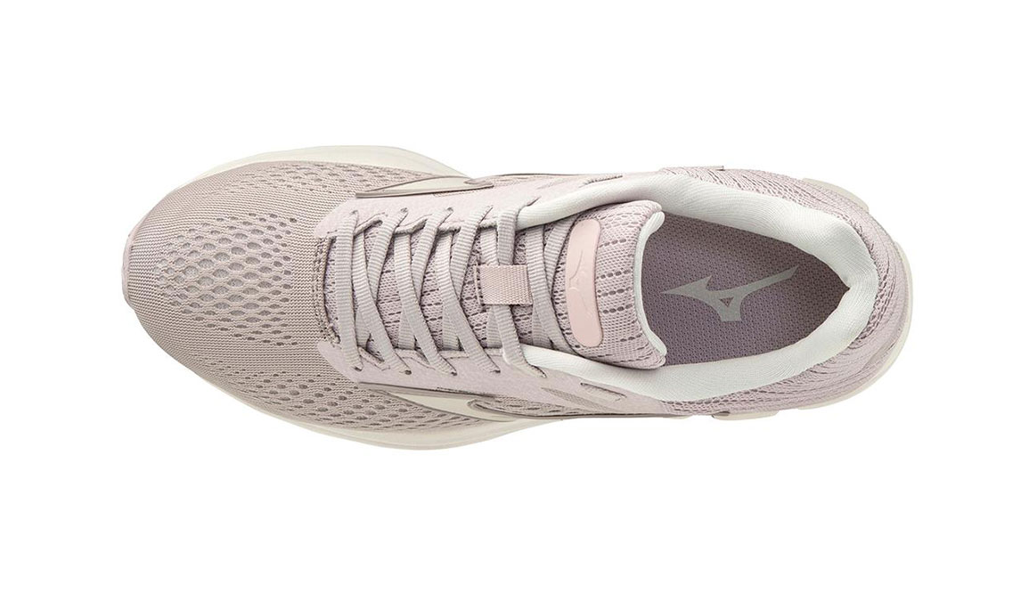 Women's Mizuno Wave Rider 23 Running Shoe - Color: Cloud Grey/Wind Chime (Regular Width) - Size: 6, Cloud Grey/Wind Chime, large, image 3