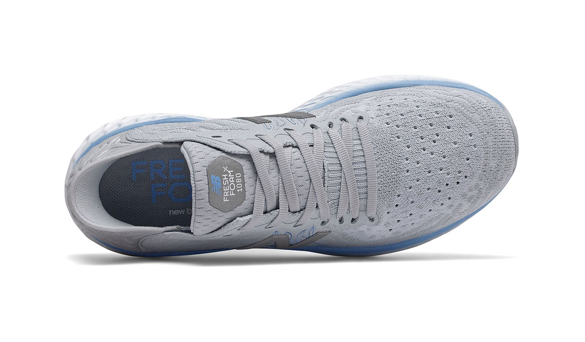 Women's New Balance Fresh Foam 1080v10 Running Shoe - Color: Light Cyclone (Regular Width) - Size: 6, Grey, large, image 2