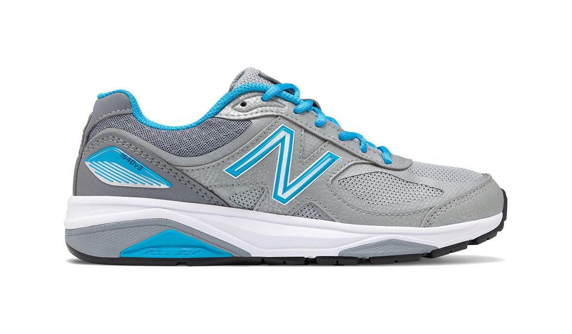 Women's New Balance 1540v3 Walking Shoe - Color: Silver/Polaris (Regular Width) - Size: 9, Silver/Blue, large, image 1