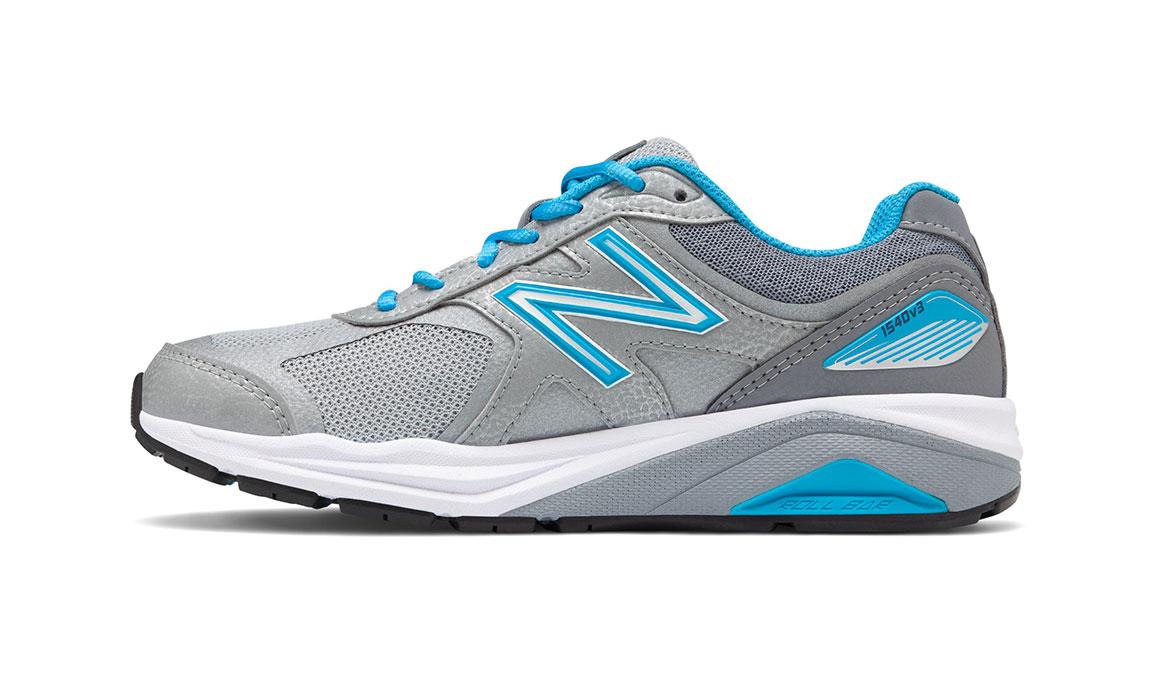Women's New Balance 1540v3 Walking Shoe - Color: Silver/Polaris (Regular Width) - Size: 9, Silver/Blue, large, image 2
