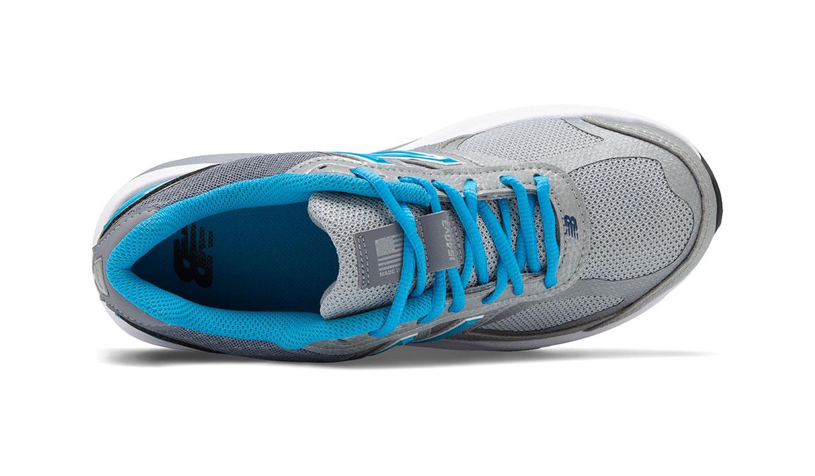 Women's New Balance 1540v3 Walking Shoe - Color: Silver/Polaris (Regular Width) - Size: 9, Silver/Blue, large, image 3