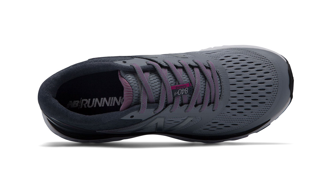 Women's New Balance 840v4 Running Shoe - Color: Cyclone/Poisonberry (Regular Width) - Size: 7.5, Grey/Pink, large, image 3