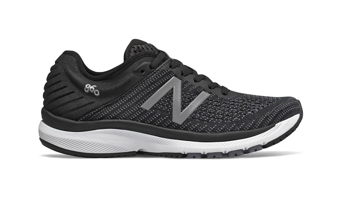Women's New Balance 860v10 Running Shoe - Color: Black/Gunmetal (Regular Width) - Size: 11, Black/Gunmetal, large, image 1