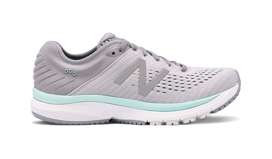 Women's New Balance 860v10 Running Shoe - Color: Steel/Light Aluminum (Regular Width) - Size: 6.5, Steel/Light Aluminum, large, image 1