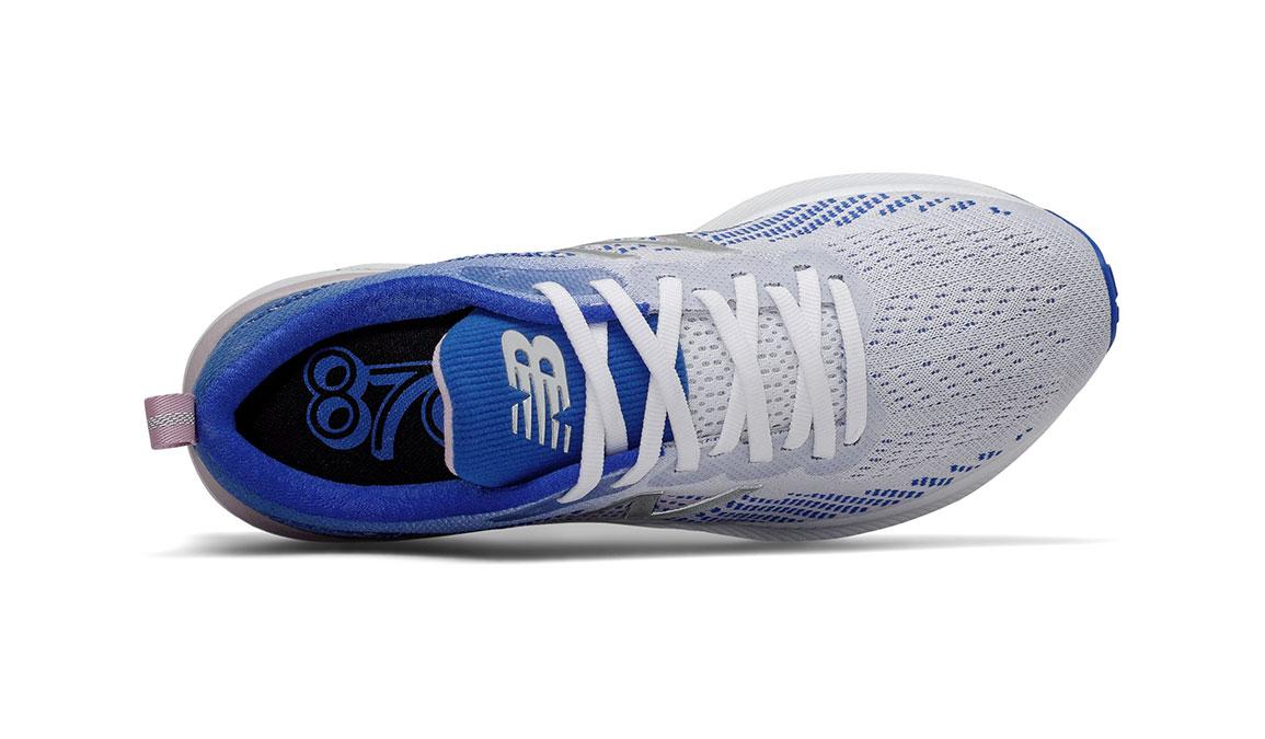 Women's New Balance 870v5 Running Shoe - Color: White/Vivid Cobalt/Oxygen Pink (Regular Width) - Size: 5, White/Blue, large, image 3