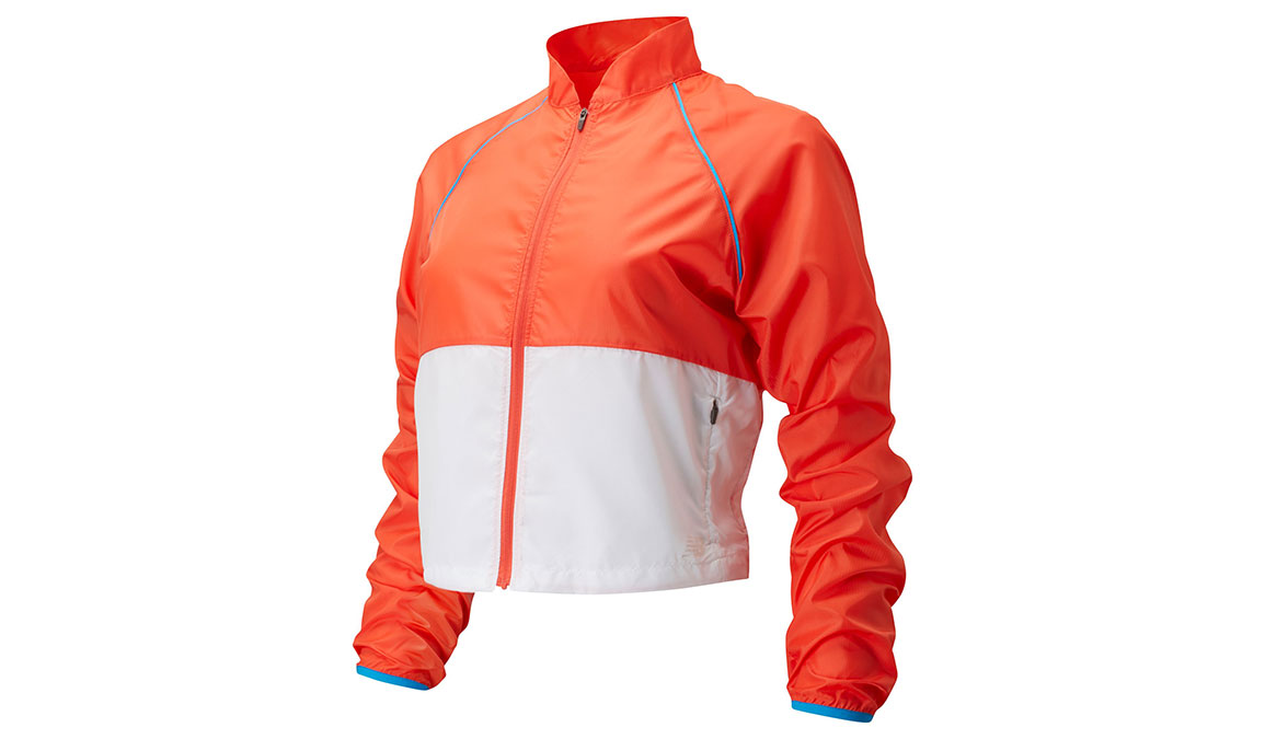Women's New Balance Fast Flight Velocity Jacket - Color: Toro Red Size: XXL, Red/White, large, image 1