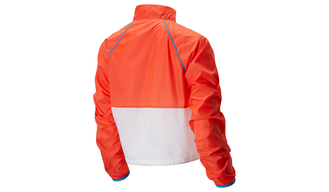 Women's New Balance Fast Flight Velocity Jacket - Color: Toro Red Size: XXL, Red/White, large, image 2