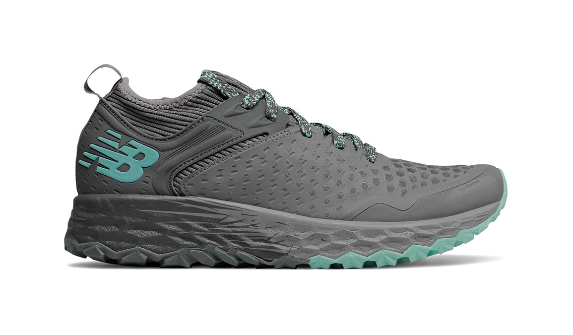 Women's New Balance Fresh Foam Hierro v4 Trail Running Shoe - Color: Lead/Gunmetal (Regular Width) - Size: 5, Lead, large, image 1
