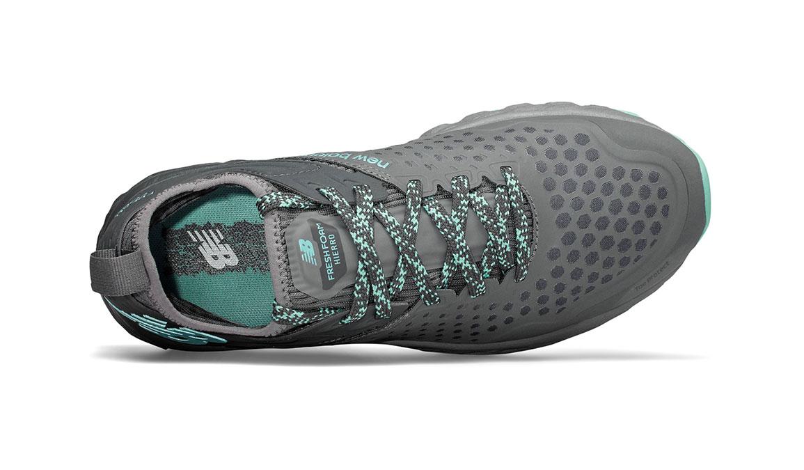 Women's New Balance Fresh Foam Hierro v4 Trail Running Shoe - Color: Lead/Gunmetal (Regular Width) - Size: 5, Lead, large, image 3