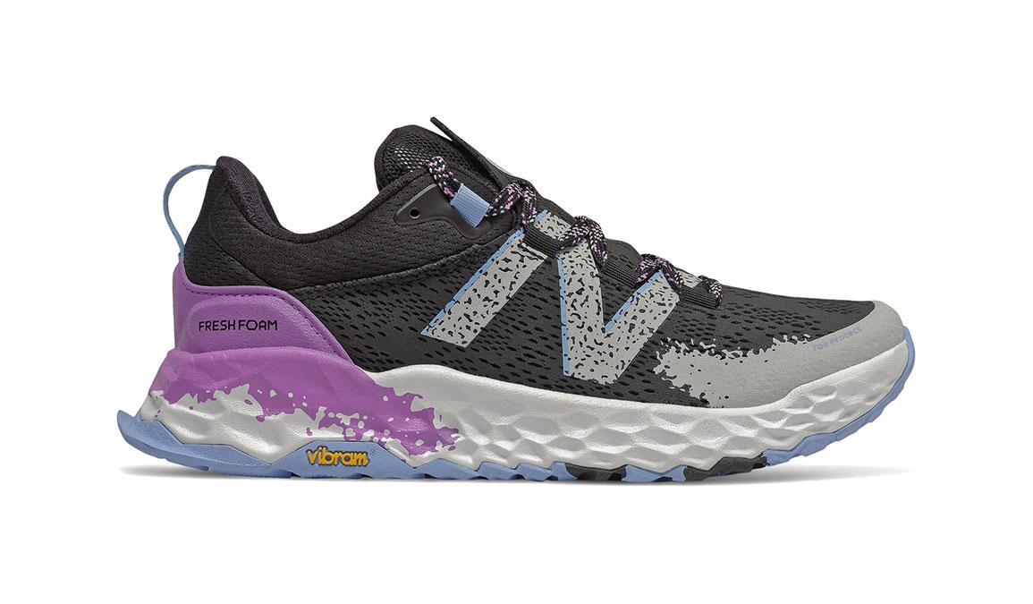 Women's New Balance Fresh Foam Hierro v5 Trail Running Shoe - Color: Black/Neo Violet (Regular Width) - Size: 7, Black/Purple, large, image 1