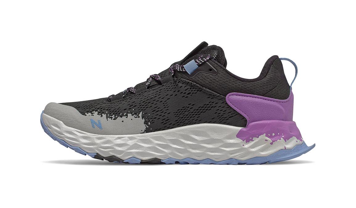 Women's New Balance Fresh Foam Hierro v5 Trail Running Shoe - Color: Black/Neo Violet (Regular Width) - Size: 7, Black/Purple, large, image 2
