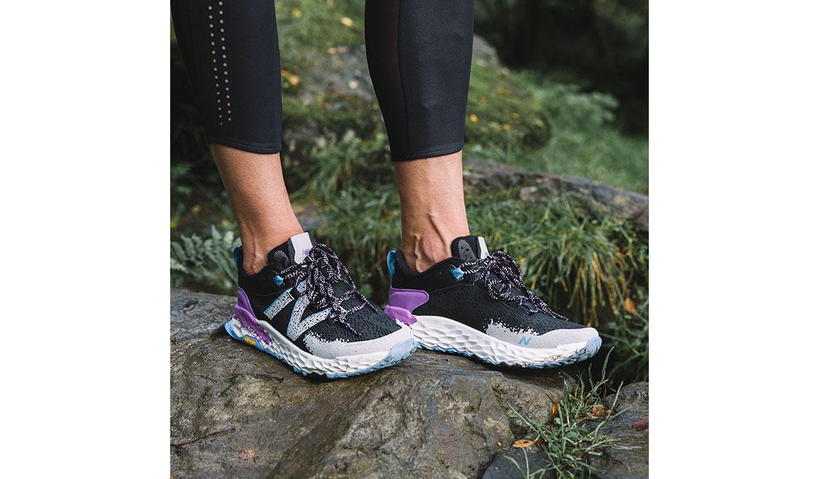 Women's New Balance Fresh Foam Hierro v5 Trail Running Shoe - Color: Black/Neo Violet (Regular Width) - Size: 7, Black/Purple, large, image 5