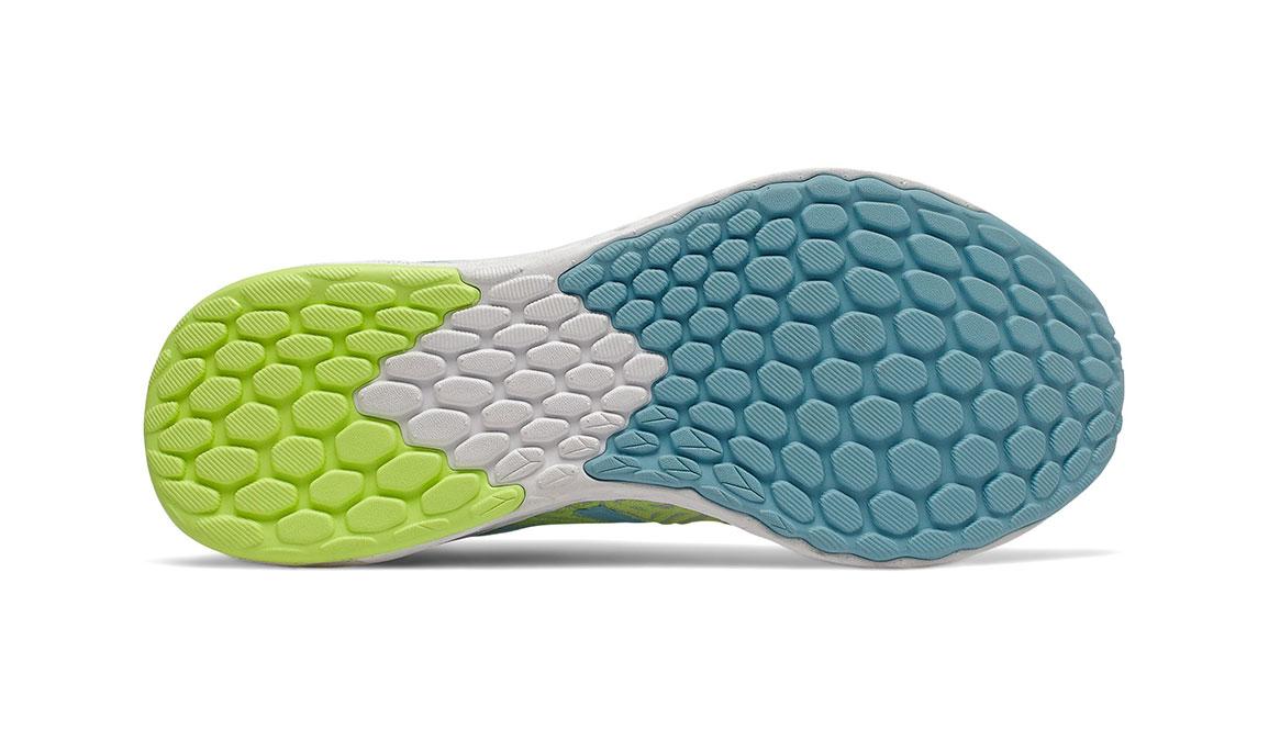 Women's New Balance Fresh Foam Tempo Running Shoe - Color: Moon Dust/Bali Blue/Lemon Slush (Regular Width) - Size: 6.5, Grey/Blue, large, image 3