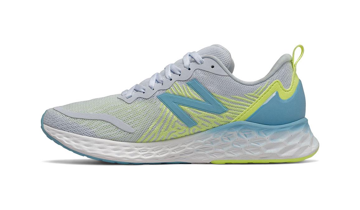 Women's New Balance Fresh Foam Tempo Running Shoe - Color: Moon Dust/Bali Blue/Lemon Slush (Regular Width) - Size: 6.5, Grey/Blue, large, image 4