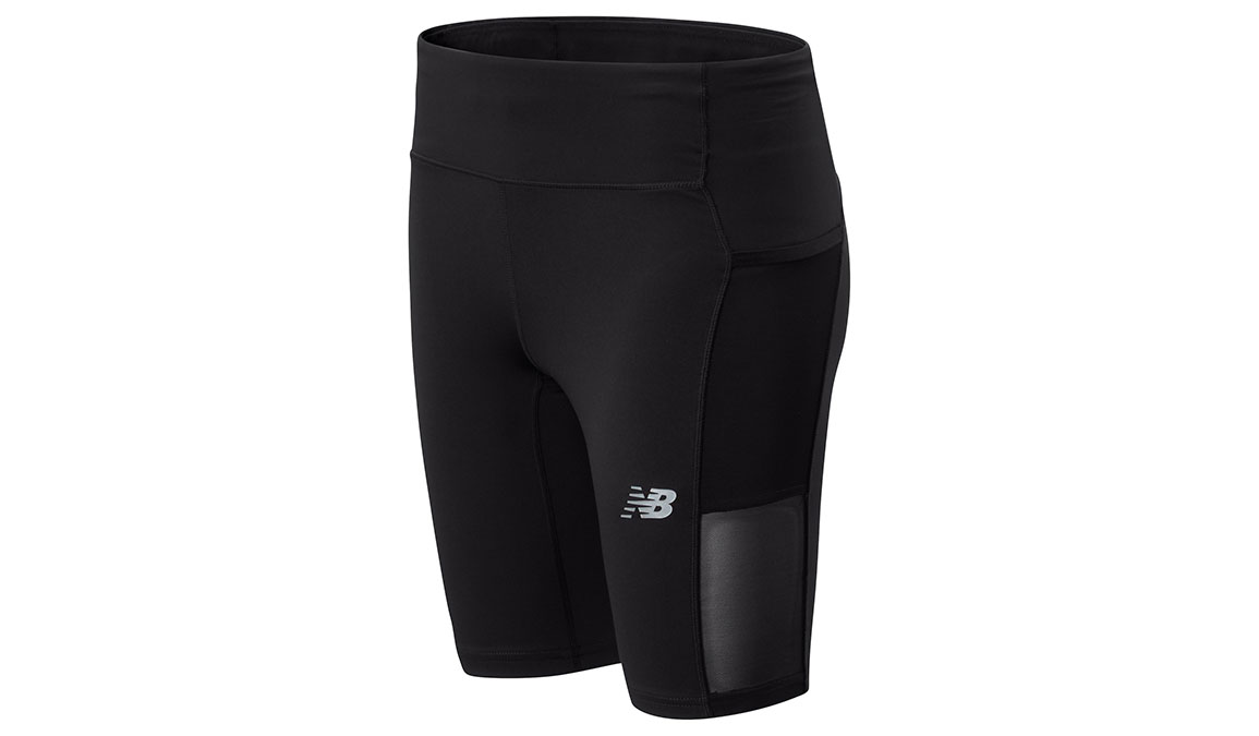 "Women's New Balance Impact Run Bike 9"" Short - Color: Black Size: XS, Black, large, image 1"