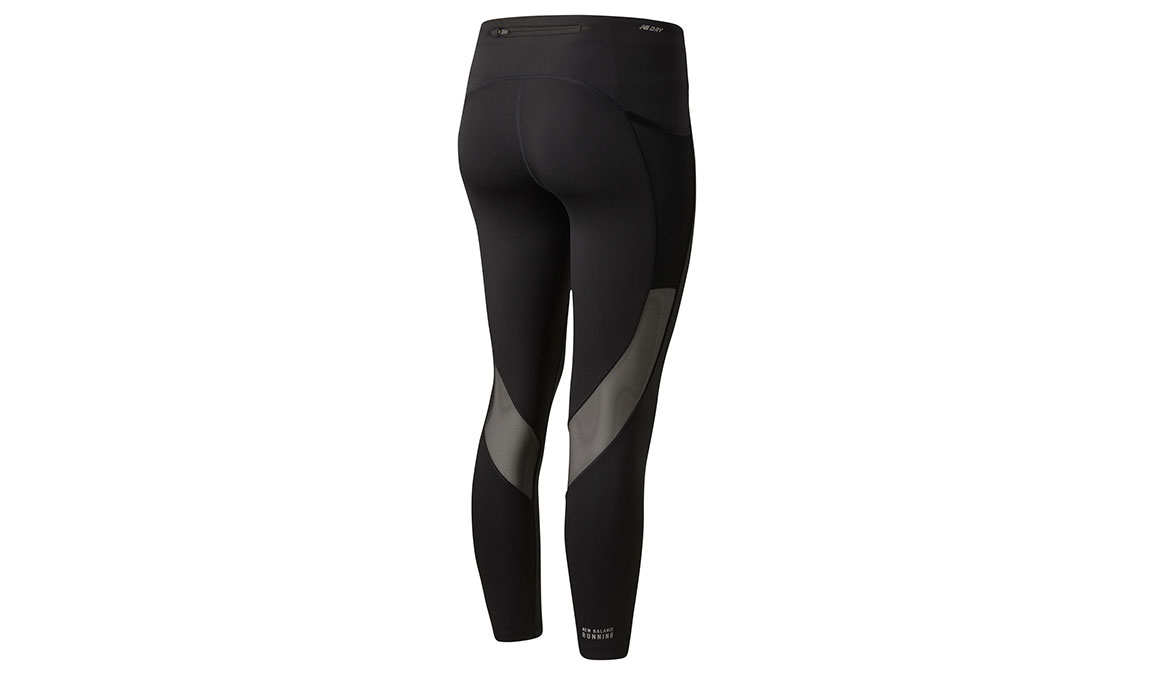 Women's New Balance Impact Run Crop - Color: Black Size: XS, Black, large, image 2