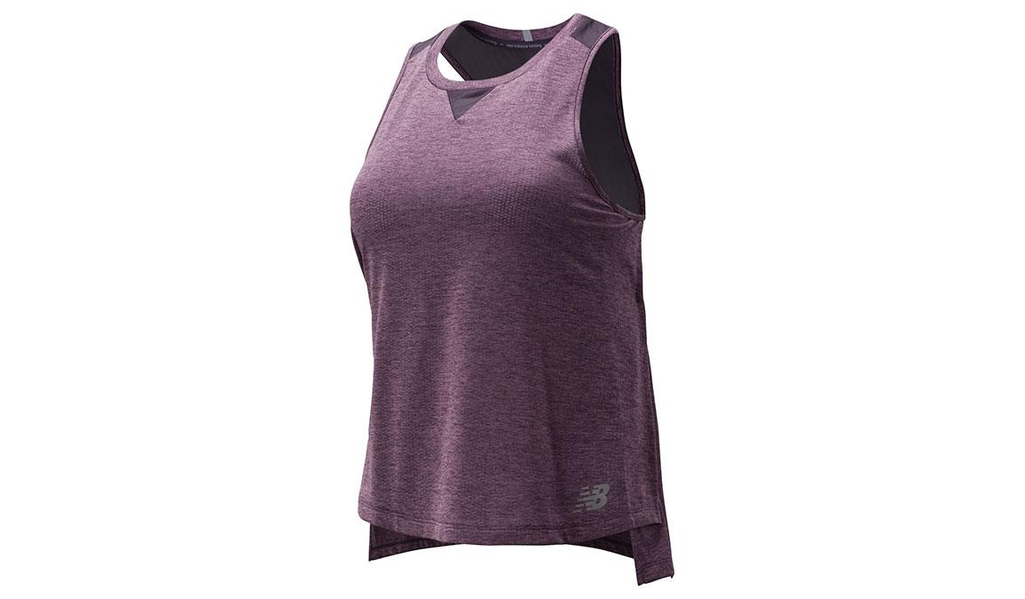Women's New Balance Impact Run Mesh Tank - Color: Violet Size: M, Violet, large, image 1