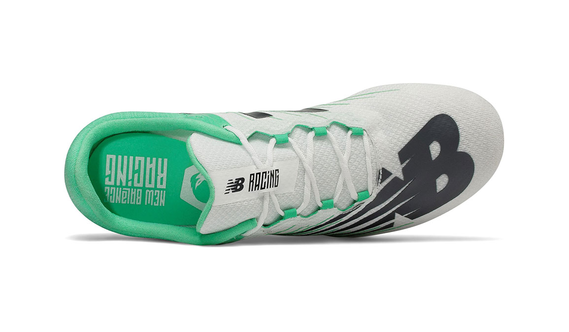 Women's New Balance MD500v6 Track Spike - Color: White/Neon Emerald (Regular Width) - Size: 6.5, White/Green, large, image 3