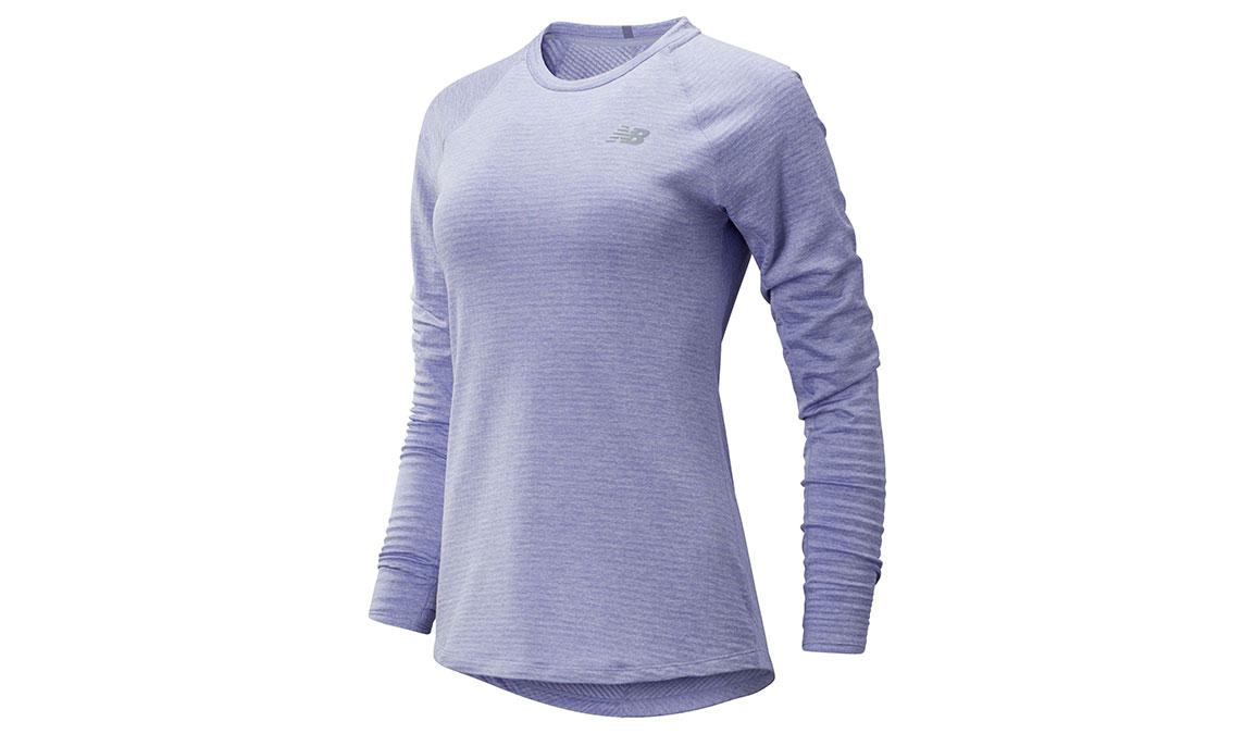 Women's New Balance NB Heatgrid Crew - Color: Amythyst Size: XS, Purple, large, image 1