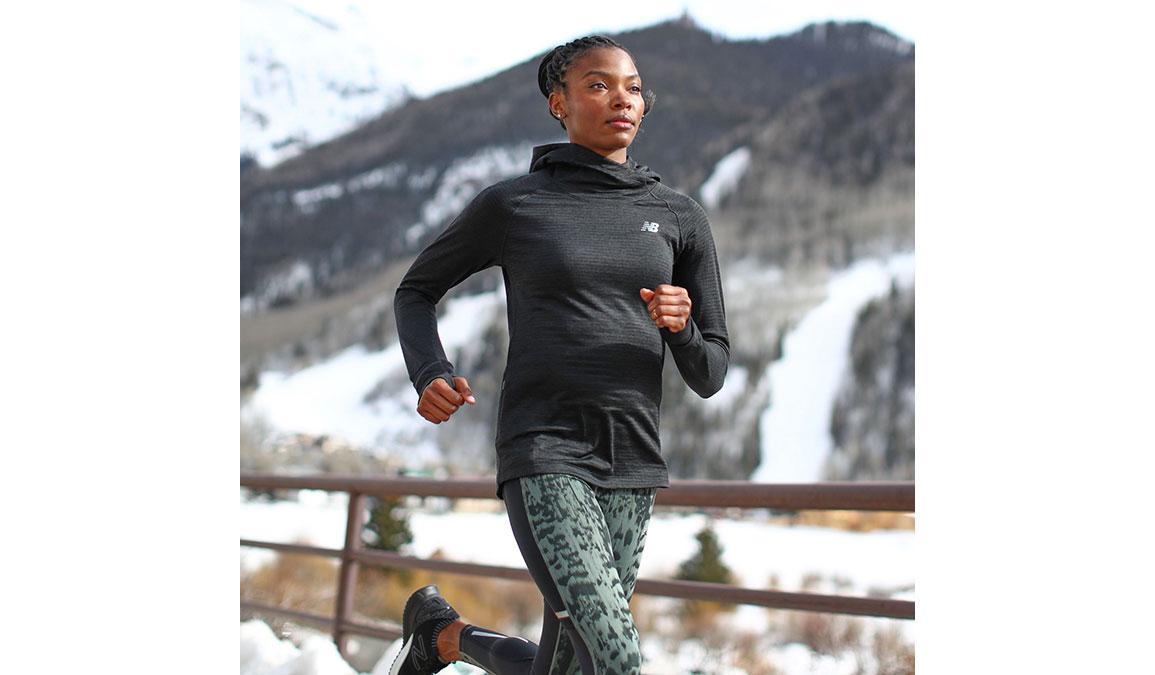 Women's New Balance NB Heatgrid Hoodie - Color: Black Size: XS, Black, large, image 3