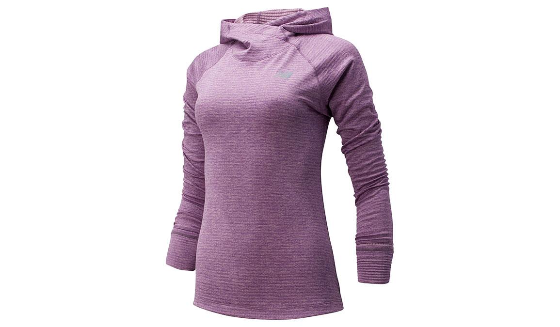 Women's New Balance NB Heatgrid Hoodie - Color: Kite Purple Size: XS, Purple, large, image 1