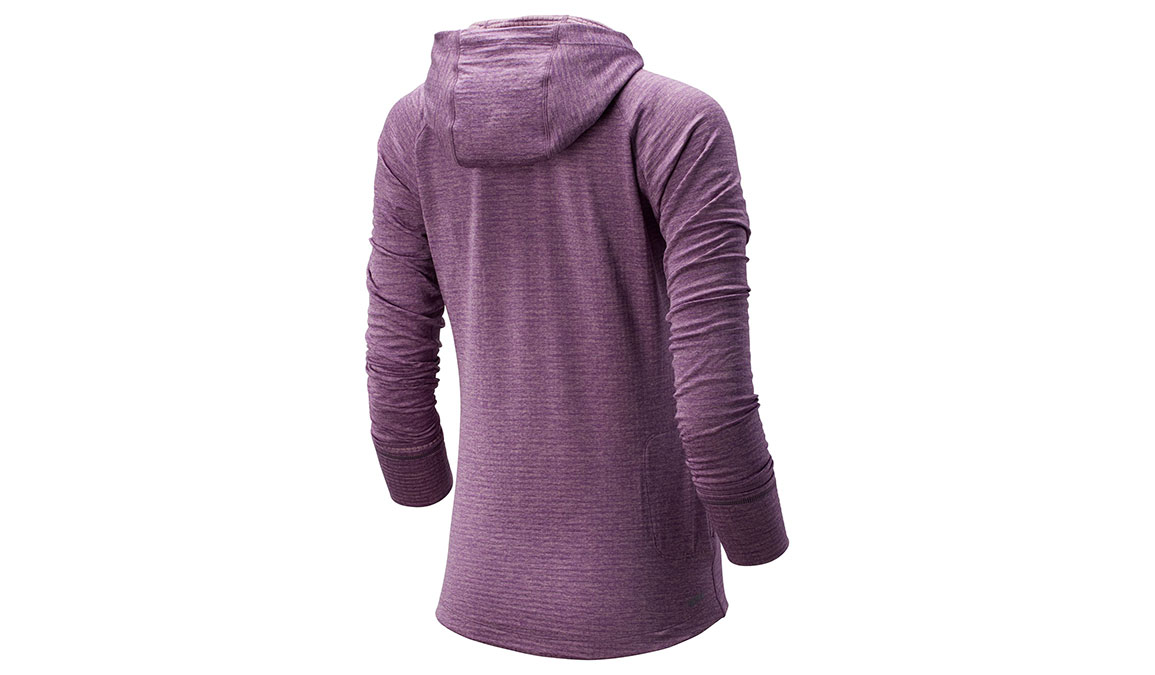 Women's New Balance NB Heatgrid Hoodie - Color: Kite Purple Size: XS, Purple, large, image 2
