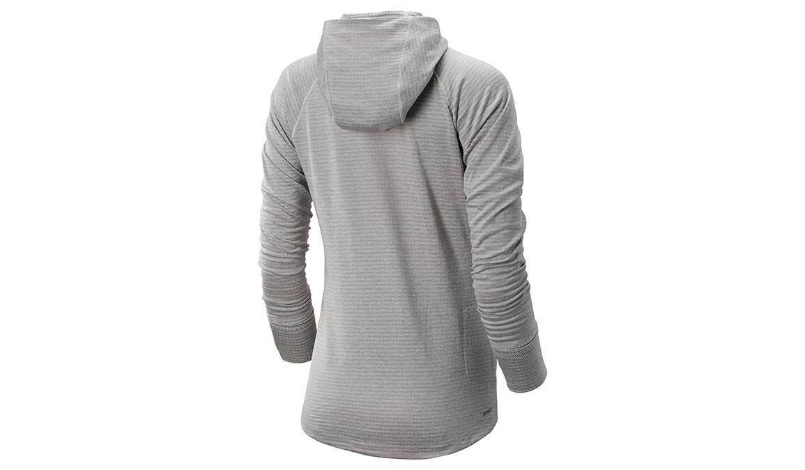 Women's New Balance NB Heatgrid Hoodie - Color: Sea Salt Heather Size: XS, Grey Heather, large, image 2