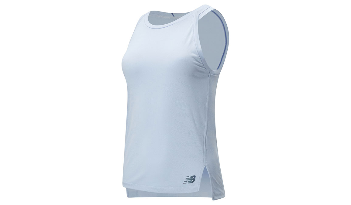 Women's New Balance Q Speed Jacquard Tank  - Color: Moondust Heather Size: XS, Blue Heather, large, image 1