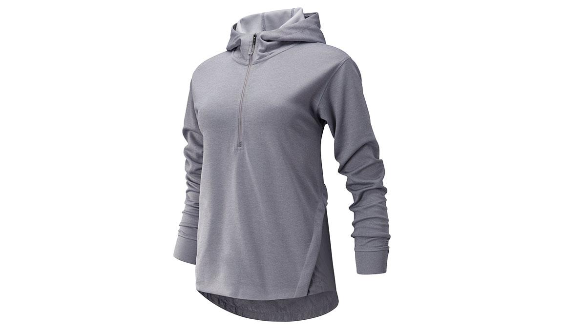Women's New Balance Q Speed Run Crew Sweatshirt - Color: Quartz Size: S, Grey, large, image 1