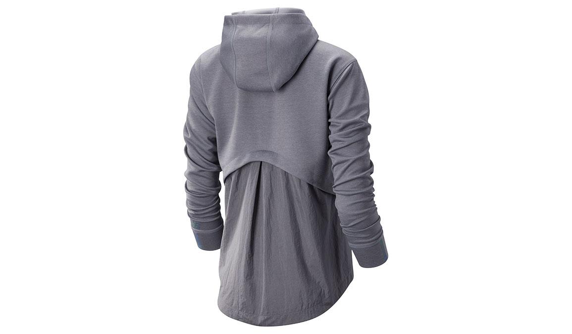 Women's New Balance Q Speed Run Crew Sweatshirt - Color: Quartz Size: S, Grey, large, image 2