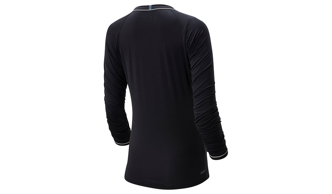 Women's New Balance Q Speed Seasonless Long Sleeve - Color: Black Size: S, Black, large, image 2