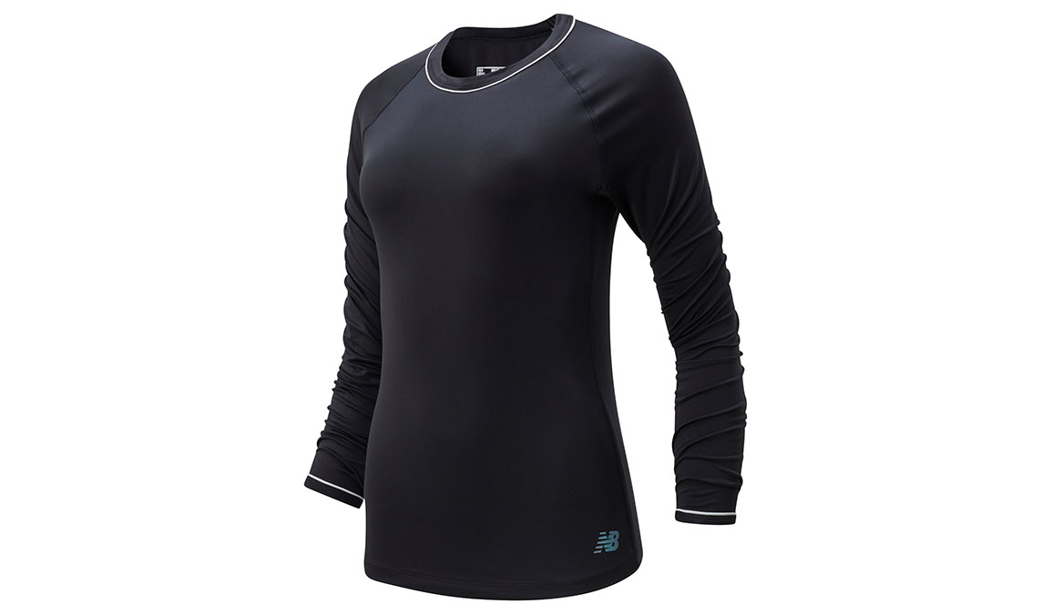 Women's New Balance Q Speed Seasonless Long Sleeve - Color: Black Size: S, Black, large, image 1