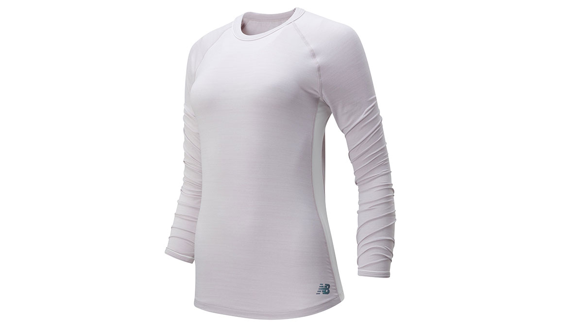 Women's New Balance Q Speed Seasonless Long Sleeve - Color: Logwood Heather Size: XS, Lilac, large, image 1