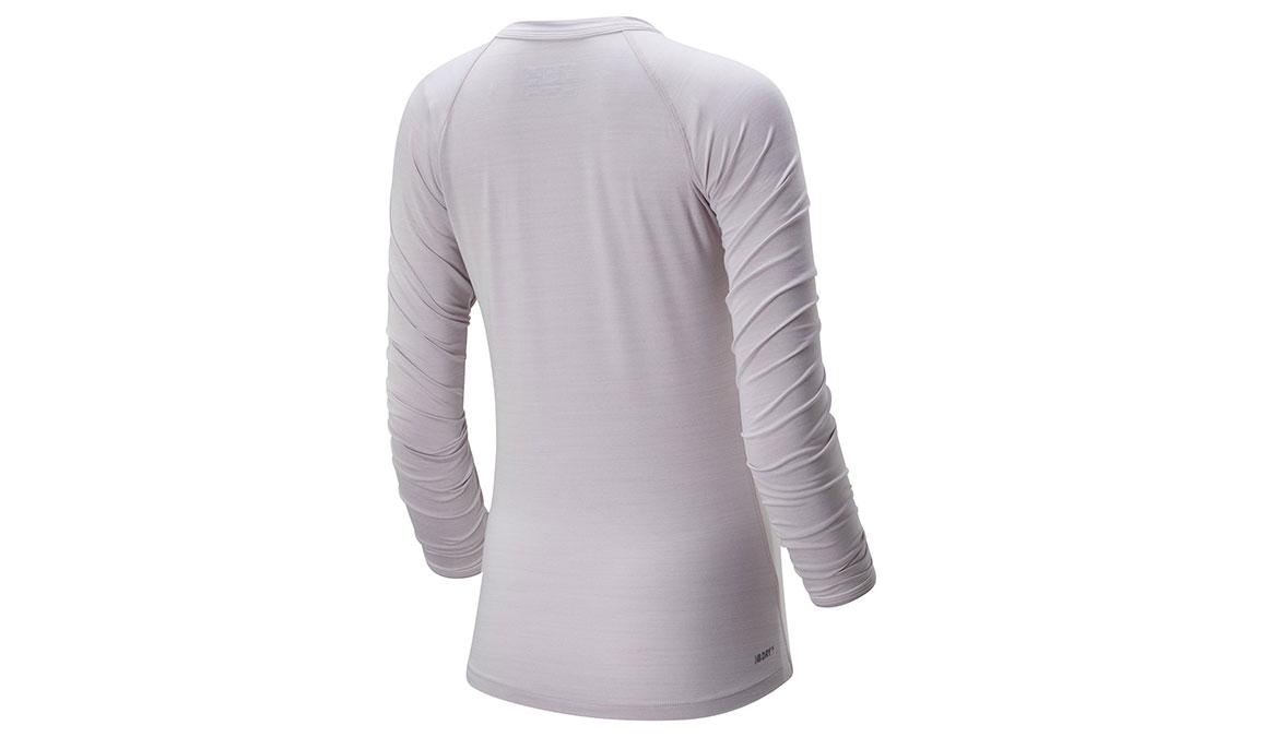 Women's New Balance Q Speed Seasonless Long Sleeve - Color: Logwood Heather Size: XS, Lilac, large, image 2
