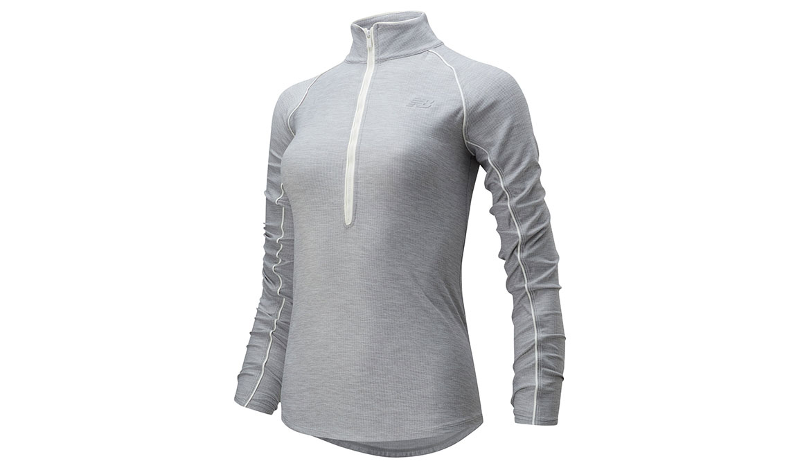 Women's New Balance Transform 1/2 Zip - Color: Athletic Grey Size: S, Grey, large, image 1