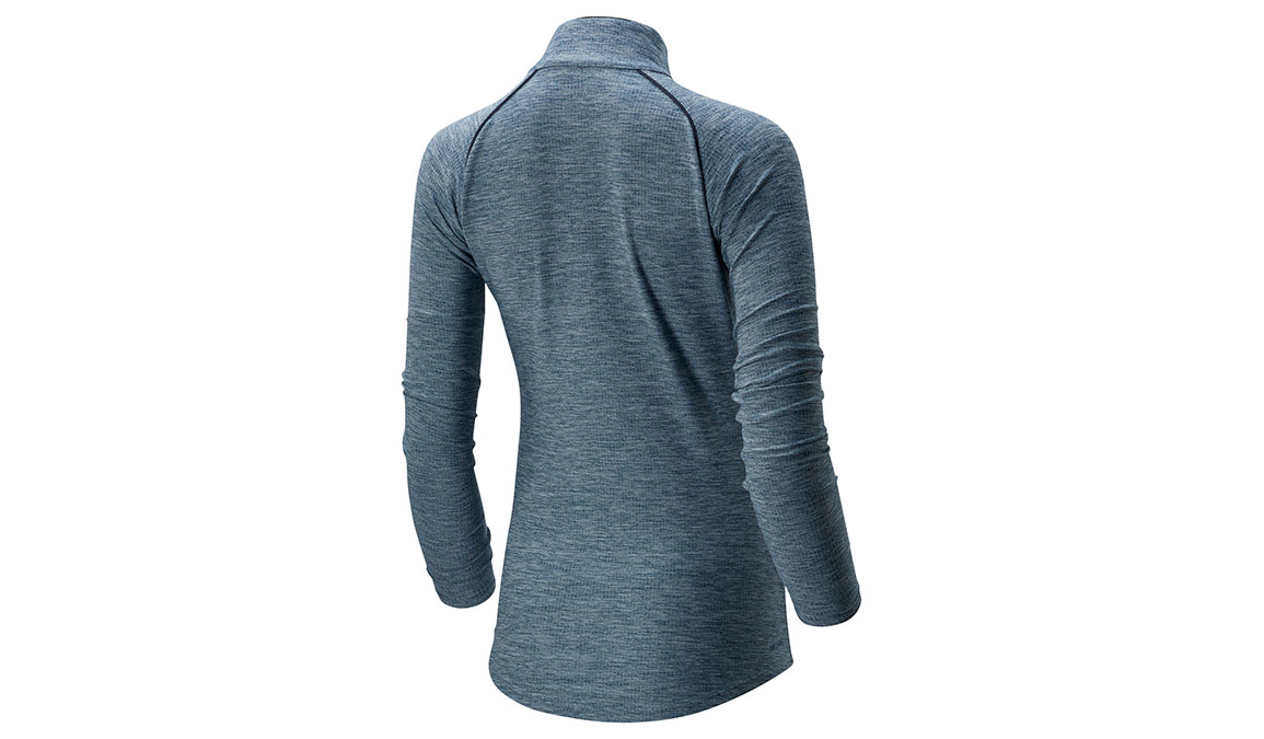 Women's New Balance Transform 1/2 Zip - Color: Stone Blue Heather Size: XS, Blue Heather, large, image 2