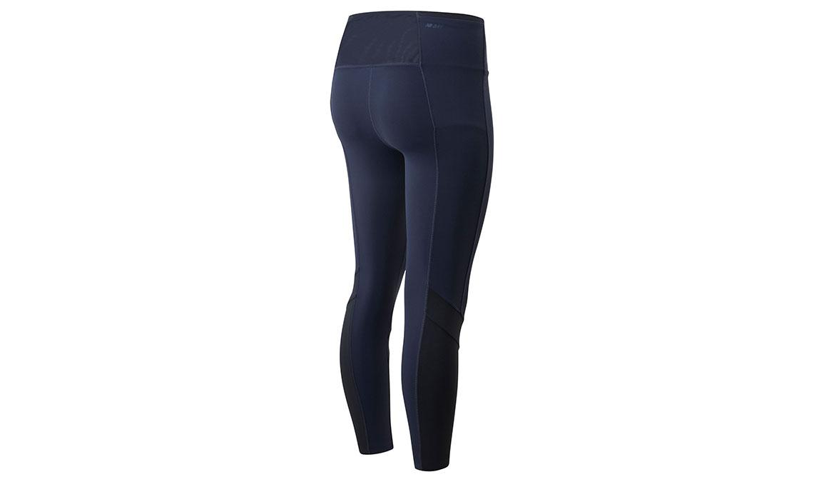 Women's New Balance Transform High Rise Pocket Crop - Color: Eclipse Size: XS, Dark Blue, large, image 2