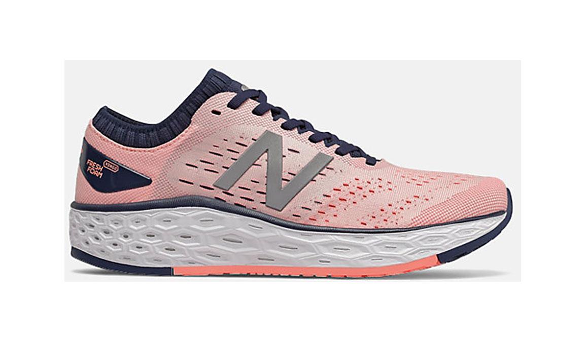 Women's New Balance Vongo V4 Running Shoe - Color: Peach Soda (Regular Width) - Size: 6, Pink, large, image 1