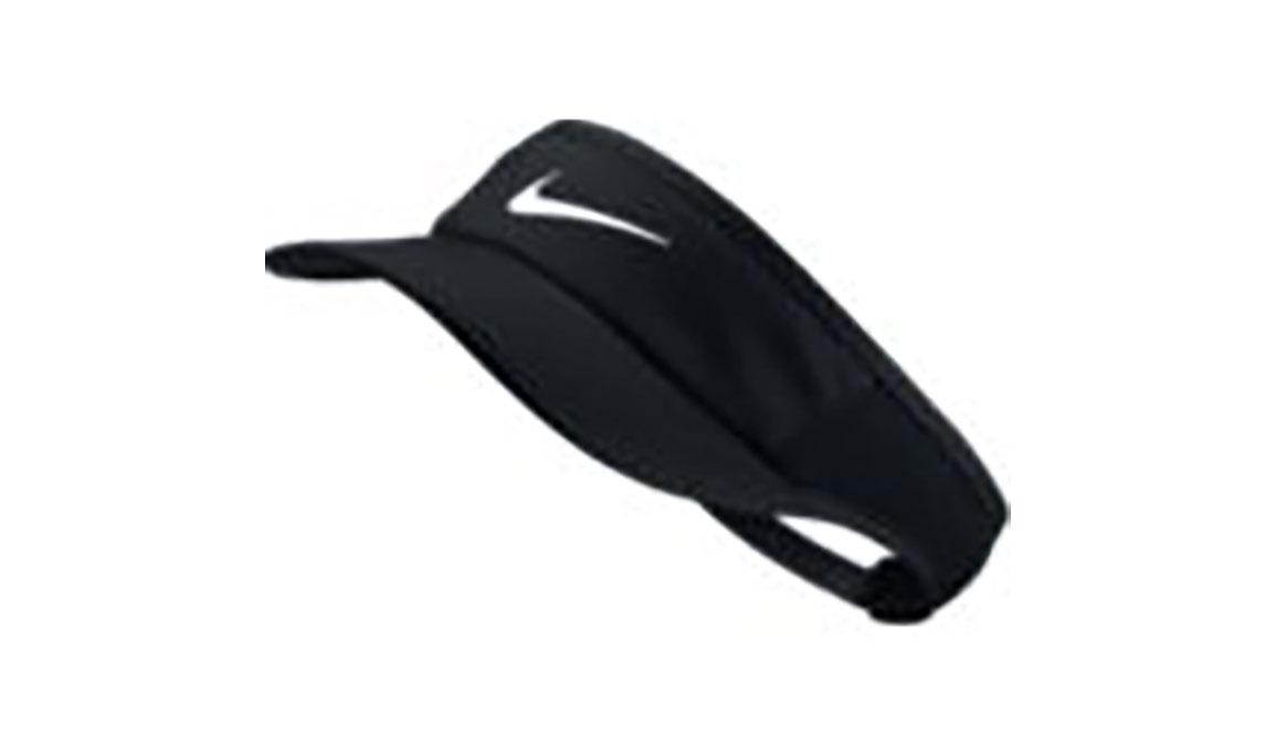 Women's Nike Aerobill Featherlight Visor - Flavor: Black/Black/Black/White Size: NS, Black/Black/Black/White, large, image 1